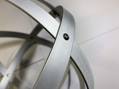 Genesa Pentasfera diametro 31 cm satinato argento profilo 1,5 cm + ciondolo 8