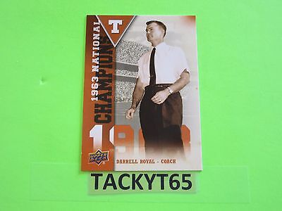 2011 Ud University Of Texas Fb National Champions Single  Card(S)