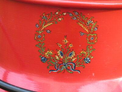 Milchkanne Schirmständer rot Blumen Alpen shabby Höhe 40 cm Durchmesser 25,5 cm 3