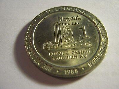 Harrah/'s Del Rio Casino Laughlin NV $1 Chip 1988
