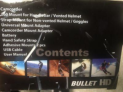 HD Fire Fighter Video BULLETHD Helmet Cam Camera Waterproof BlackJack 16GB SD 4