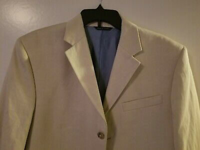Banana Republic Modern suit Beige Jacket/Pant Set 40R / 34-32 new w defects. 2