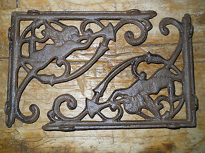 4 Cast Iron Antique Style ANGEL Brackets, Garden Braces Fairy Shelf Bracket 2