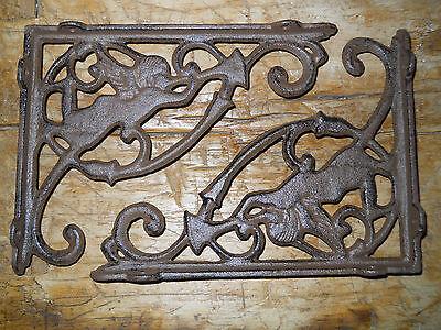 6 Cast Iron Antique Style ANGEL Brackets, Garden Braces Fairy Shelf Bracket 2