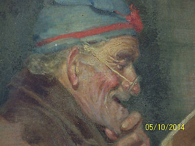 """Rare"" Alpenore Gobbi Antique Original Oil On Panel Side Portrait Painting 5"