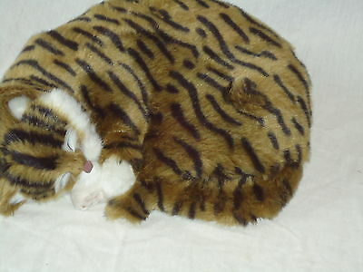 Realistic Life-Like Tabby Sleeping Cat Fooled Many People- House Trained -White 3