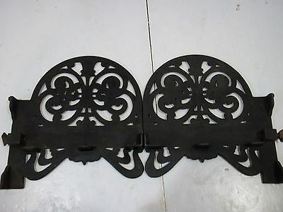 "Antique Cast Iron Shelf Brackets Left and Right for 6 1/2"" X 3/4"" shelf Vintage 2"