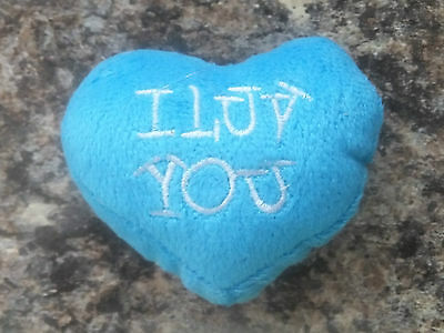 Small I Love You Heart Shaped Soft Toy For Your Cat * Choice Of Colours * Cto 28