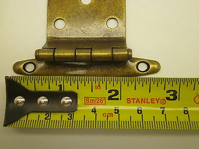 NOS VINTAGE LOT OF 10 PAIR  CABINET HINGES GOLD ANTIQUE  BRASS finish Y 4 • CAD $37.74