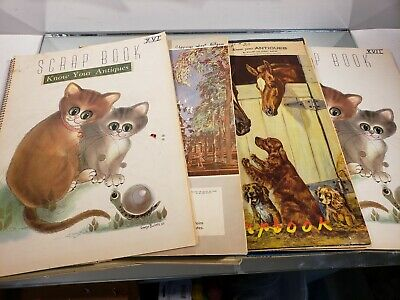 VINTAGE SCRAP BOOK Know Your Antiques/Refinishing /Collections/Newspaper clips 4 12