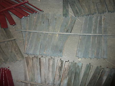 SALVAGED wooden SHUTTER slats GREAT for ART projects & painting - w/ATTACHED bar 5