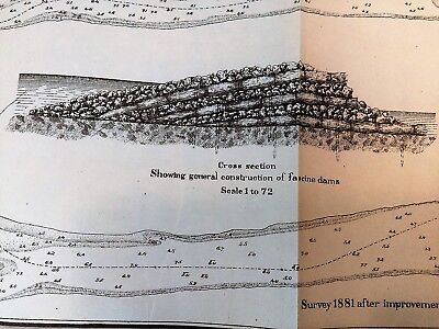 1882 Sketch Map Missouri River Grand Island Improvements Capt. EDW McGuire 3