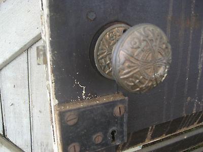 "SOLID - circa 1890 VICTORIAN shutter screen door w louvers 77.5"" x 30"" x 1.25"" 9"