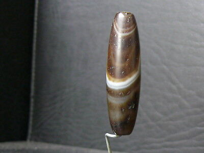 (eV061) Tibet   Old Natural DZI  GZI Agate Bead 5