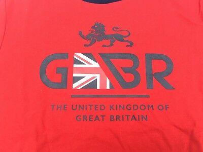 Kid/'s Polo Ralph Lauren Olympics Great Britain Crewneck Boys Red T-Shirt