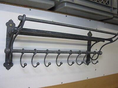Garderobe  Hutablage  aus Metall  mit beweglichen Haken 53 cm x 22 cm Loft grau 8