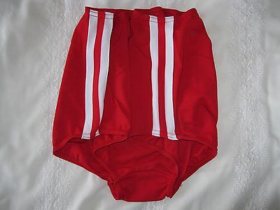 "Ladies GYMPHLEX Athletics SCARLET School Gym Shorts W28 Sz ""L"" UK 12-16 BNIB 3"