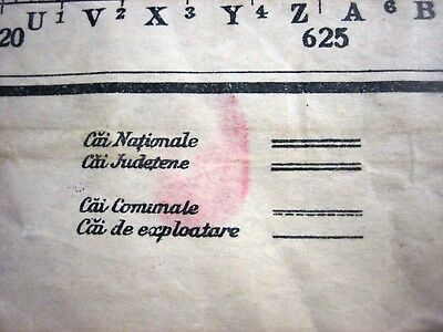 1937 Giurgiu Romania Institutul Geografic Militar Original Vintage Map 11