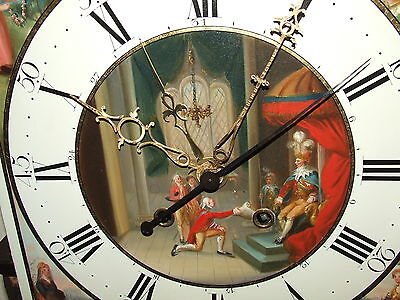 Antique Inlaid Mahogany Moon Phase Longcase Grandfather Clock FURNIVAL OLDHAM 6