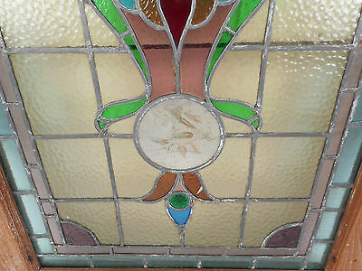 Vintage Stained Glass Window Panel (3143)NJ 4