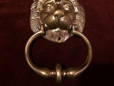 Vintage Brass DOOR KNOCKER Lion's Head