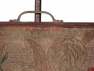 SWC-Chippendale Carved Mahogany Pole Screen with Needlework panel, c.1780 3