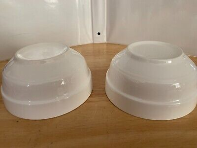 "Lot of 2 Unbranded 5"" Soup Cereal Bowl 2.5"" Tall Contemporary White Ceramic EUC 5"