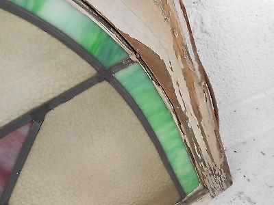 Vintage Art Deco Stained Glass Window Panel (3168)NJ 6