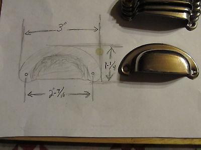 18 Bin Drawer cup Pulls door handles vintage rustic nickel steel 6