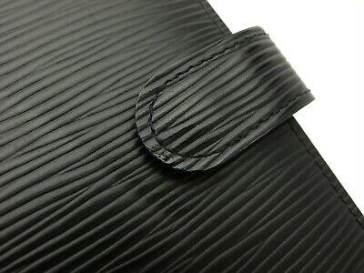 Louis Vuitton Authentic Epi Leather Black Agenda fonctionnel PM Diary cover Auth 8