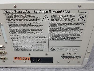 Neuro Scan Labs SynAmps Model 5083 Brain Mapping EEG Neuromedical