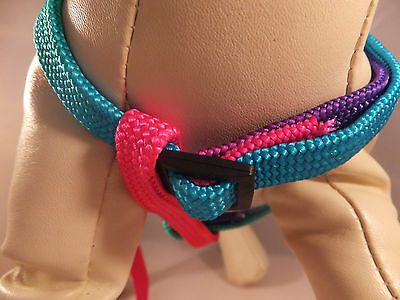 Harness & Lead Set Bright Neon Coloured for Small Dog or Cat  DCO 09 2