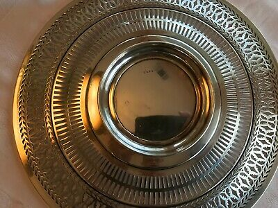 """Antique Sterling Silver Watson Co Reticulated Sandwich Plate Tray 9.5"""" Stunning 8"""