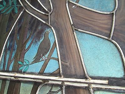 10.5' Monumental Jeweled Antique Stained Glass Portrait Window  Ny Estate # 1 7