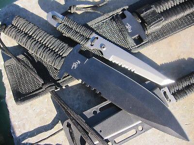 Schweres Fox outdoor Messer stonewashed Gürtelmesser Jagdmesser Machete B-Ware