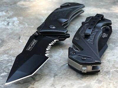 "Tac Force Spring Assisted Tactical Tanto Blade Folding Rescue Pocket Knife 8.25"" 6"