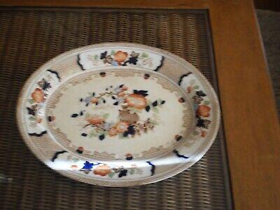 "Antique 1902 ""Peel"" Soho Pottery Limited Cobridge England Serving Platter 3"
