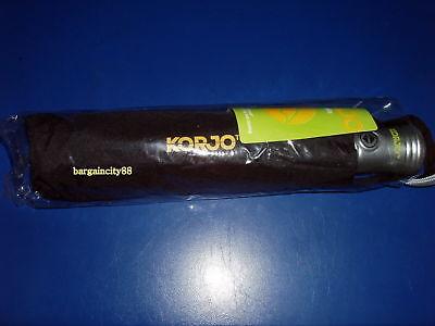 NEW Korjo Windproof Travel Umbrella Black Small 11