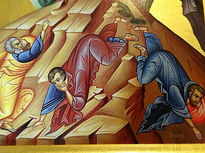 Verklärung Jesu IKONE Metall Oklad Icon Transfiguration Ikonen Icoon Ikona Icone