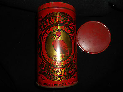 Le Pelican Rouge Cafe Torrefie Kaffeedose ca. 1920 aus Sammlungsauflösung 8