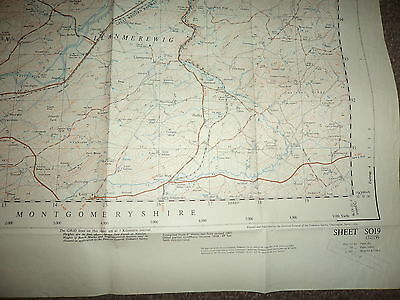 "Ordnance Survey Map 2.5"" SO19 Newtown 1951 Inc. Abernule Dettws Cedewain Pennant 4"