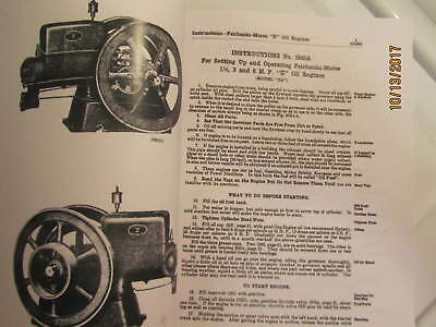1919 Fairbanks Morse model ZA Gas Engine with Bosch  Instruction/Parts  Manual 2