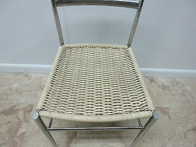 Vintage Mid Century Chrome Italian Ladder Back Dining Side Desk Chair 5