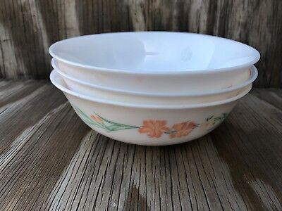 Arcopal Dishes Milk Glass Soup, Cereal Or Salad Bowls Set Of 3 Different Desig 6