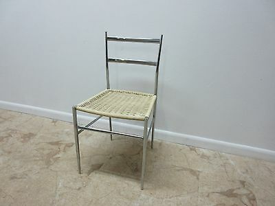 Vintage Mid Century Chrome Italian Ladder Back Dining Side Desk Chair 3