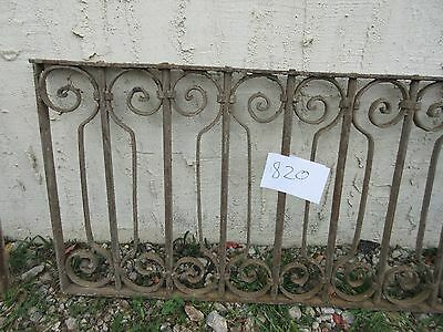 Antique Victorian Iron Gate Window Garden Fence Architectural Salvage #820 2