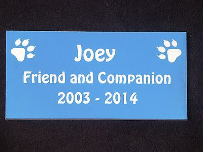 Personalised Pet Memorial Plaque with Cat Prints - Various Colours 6