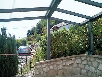 Terrassendach Alu Sonnenschutz-Stegplatten klar Terrassenüberdachung 6 m breit 6