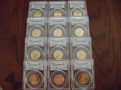 2000-2011 Sacagawea-Native American Pcgs Pr69Dcam 12-Coin Dollar Proof Set 8