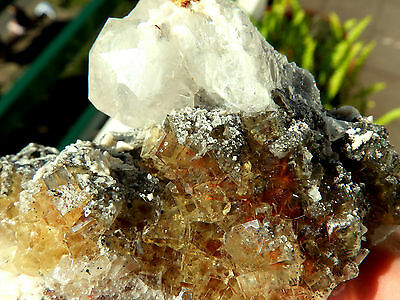 "Minerales"" Fantastico Mineral Fluorescente De Fluorita+Calcita Asturias- 6A15 "" 9"